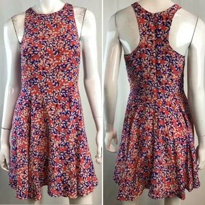 Yumi Kim Floral Silk Racerback Flare Mini Dress